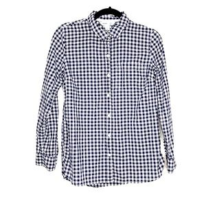 Old Navy   Navy Gingham Classic Button-up Shirt